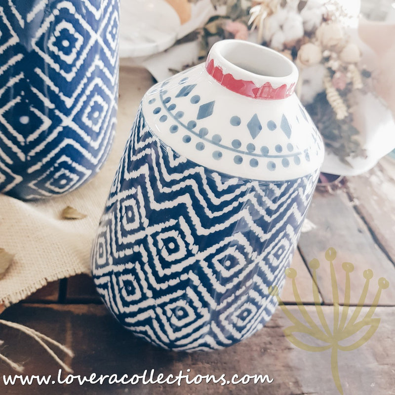 Blue Tribal Vases