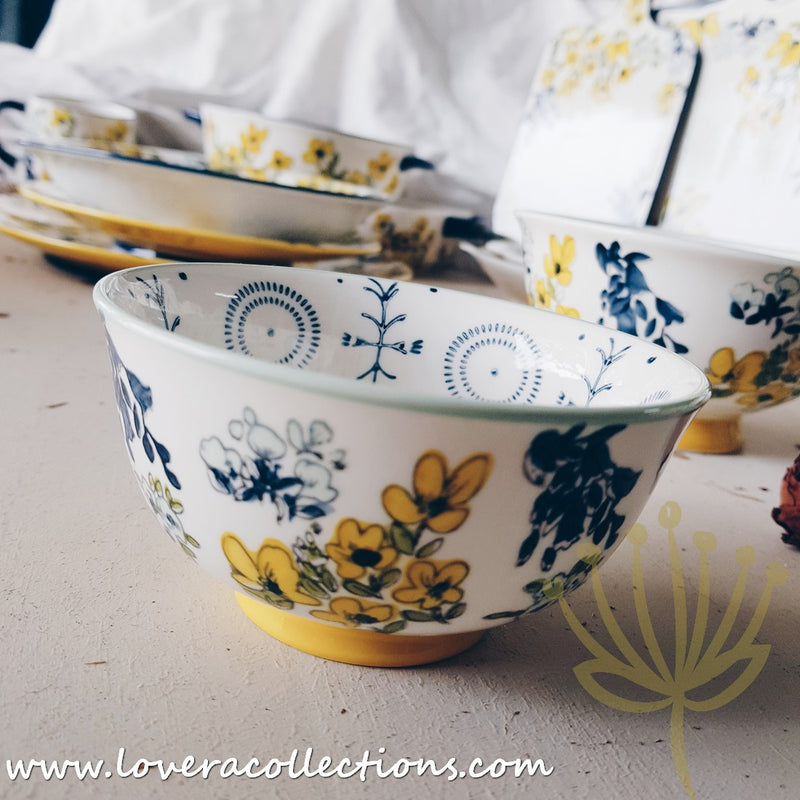 Botanic Colorful Floral Dinnerware Collection