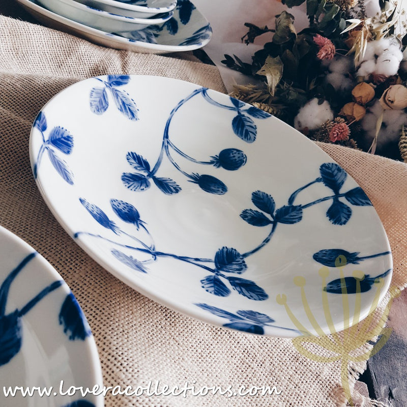 Aito Japan Botanical Blue & White Dinnerware Collection