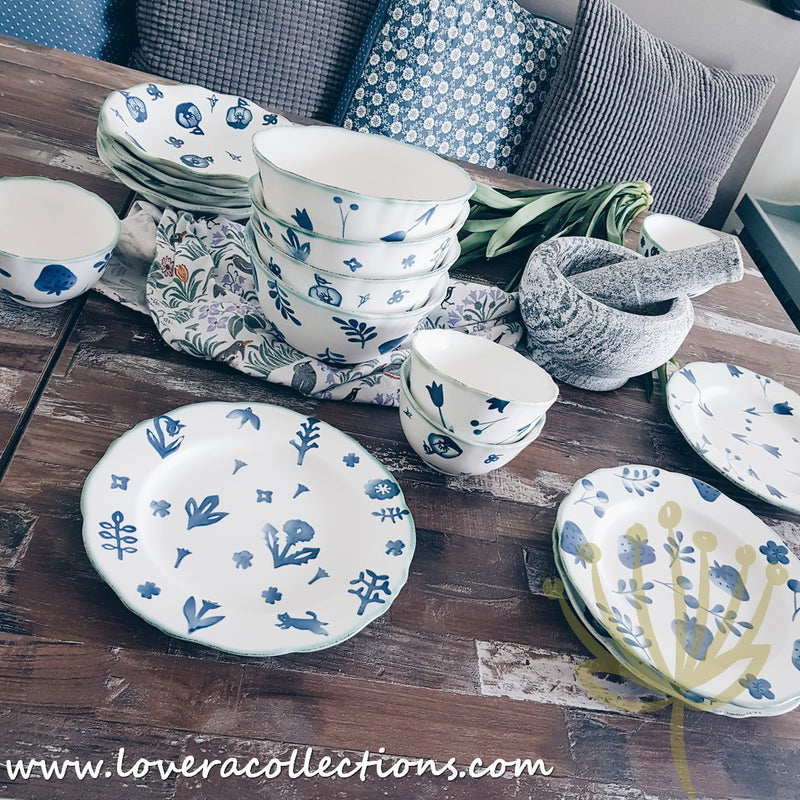 Cassie Blue & White Matt Assorted Prints Collection