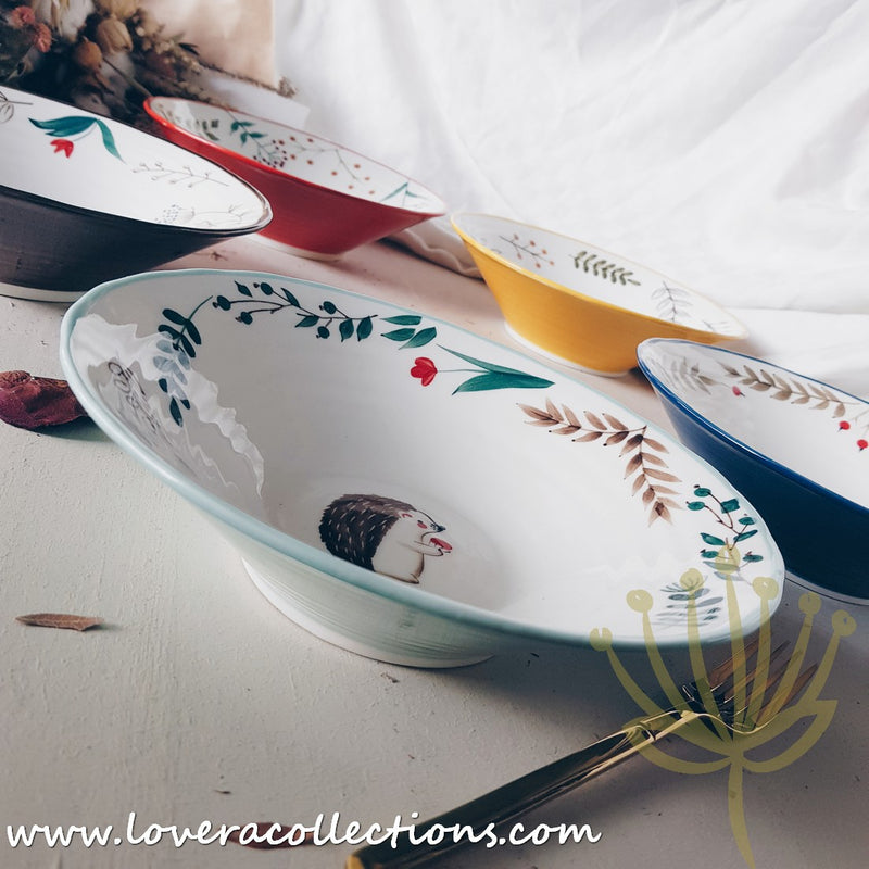 Forest Animals Colorful Pasta Dishes
