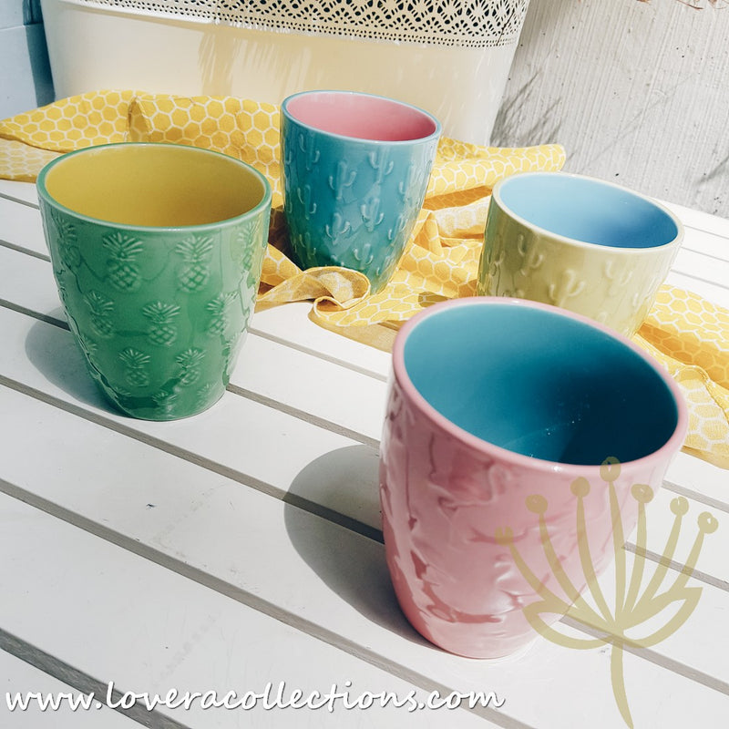 Funky Assorted Colors Cups