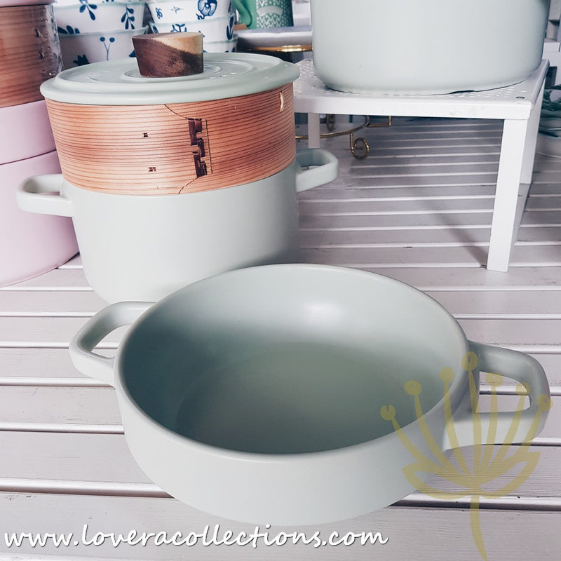 Pastel Colors Double Claypots with Steamer Basket