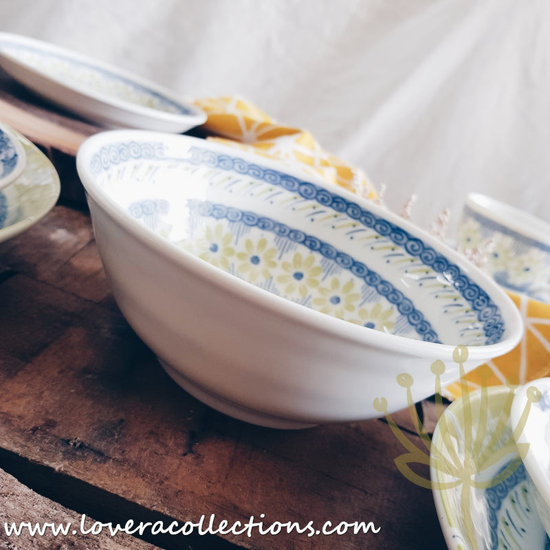 Awasaka Japan Green & Blue Daisy Tea & Dinnerware Collection