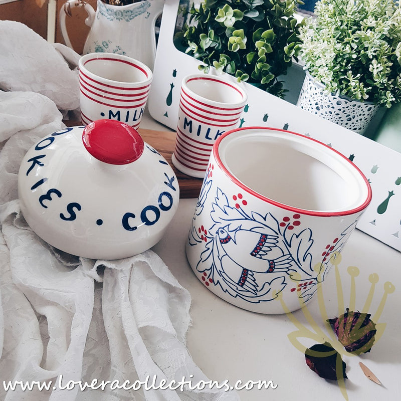 *Limited Edition* Holiday Flourish Cookie Jar & Milk Cups