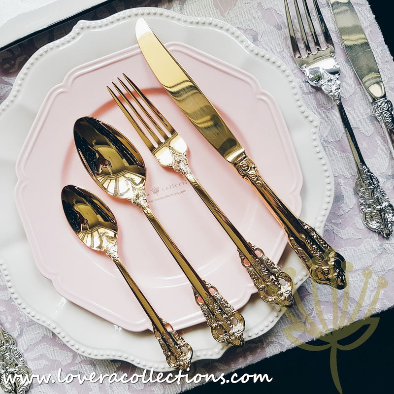 Imperial 18K Gold Stainless Steel SS304 Cutlery