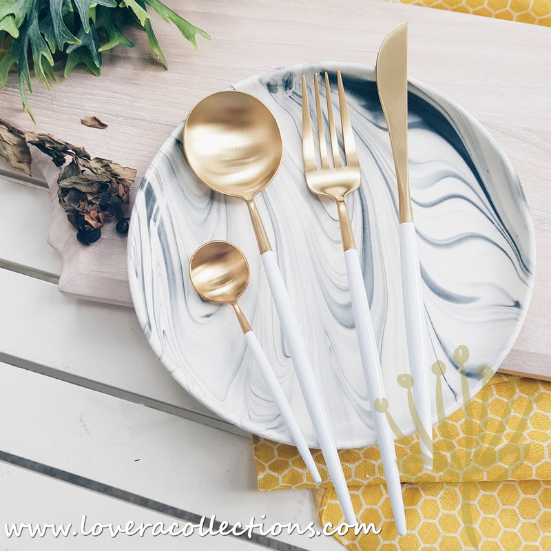 Lux Gold Colorful Handles Stainless Steel SS304 Cutlery Collection