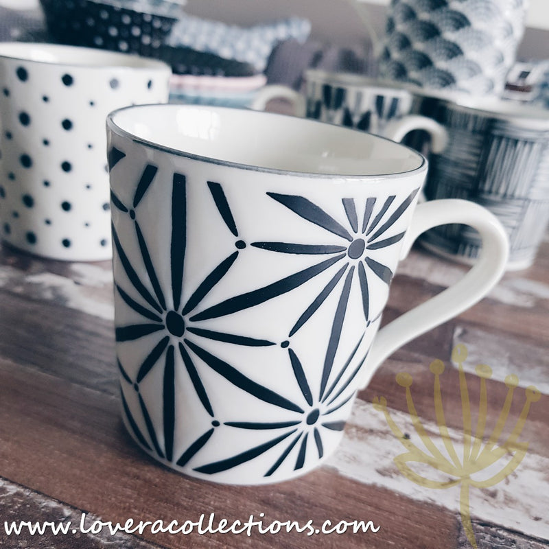 Awasaka Black & White Modern STARS Dinnerware Collection