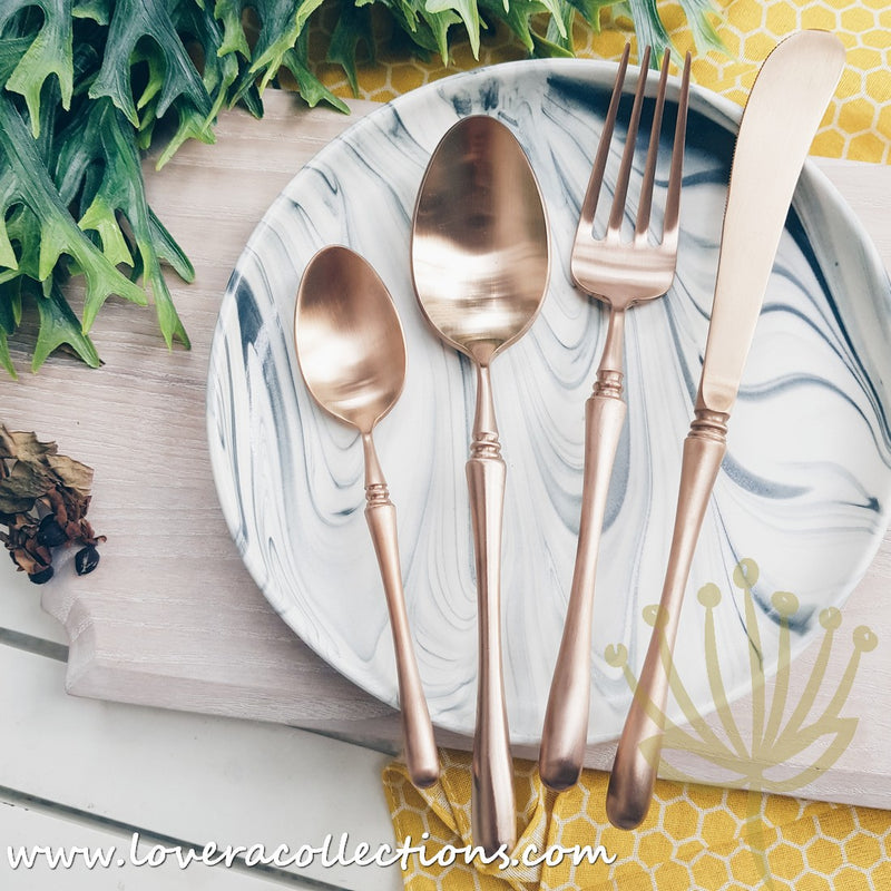 Parisienne Matt Gold / Silver / Bronze Stainless Steel SS304 Cutlery Collection