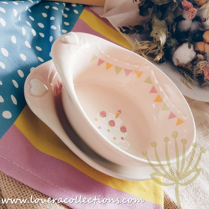 Chikudouen x Lovera Pink Party Children Dinnerware Gift Sets