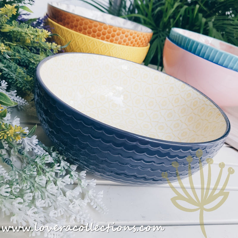 Repeat Assorted Patterns Serving Bowls