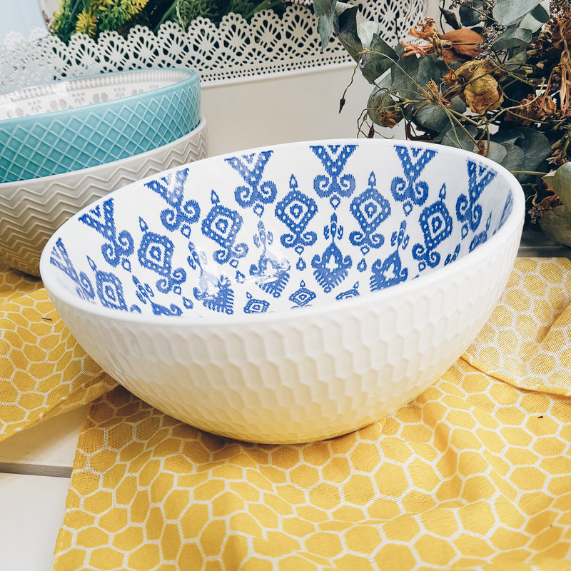 Repeat Assorted Patterns Salad Bowls