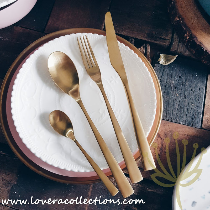 Rosa Gold Matt Ion Plated Stainless Steel SS304 Cutlery Collection