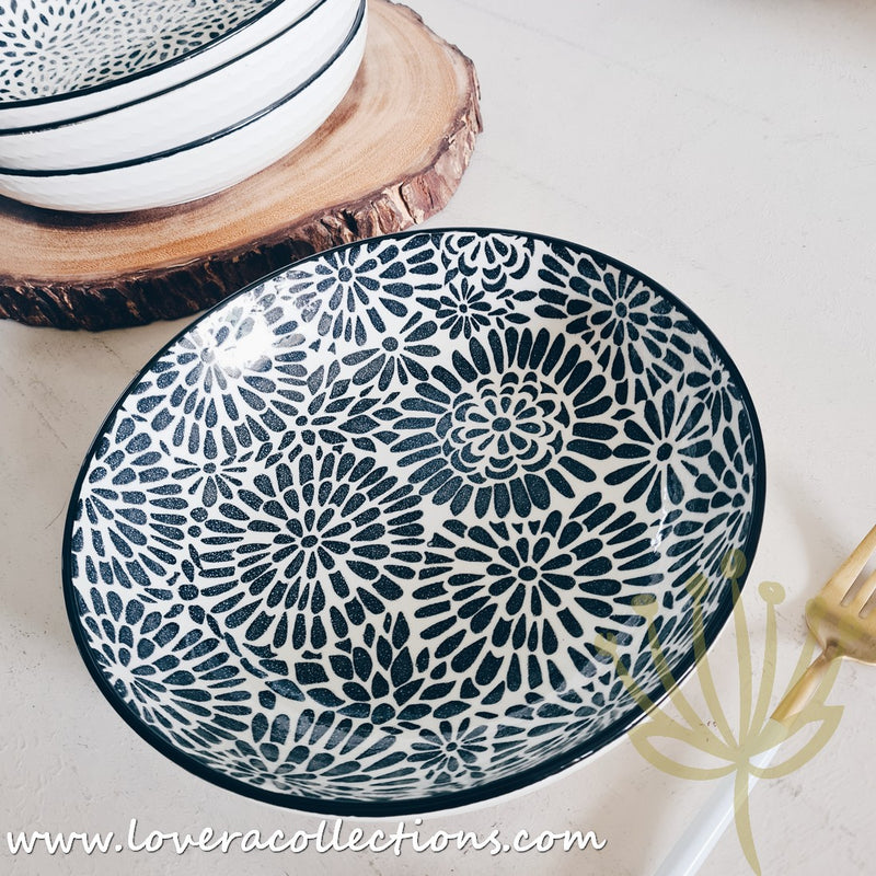 White Waves Assorted Prints Pasta Dish