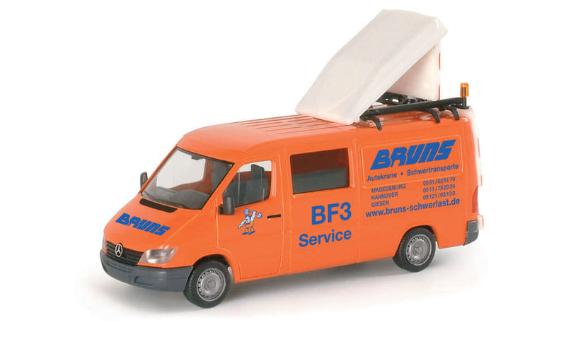 "H0 Herpa 046879 - Mercedes-Benz Sprinter Bus BF3 ""BRUNS"""