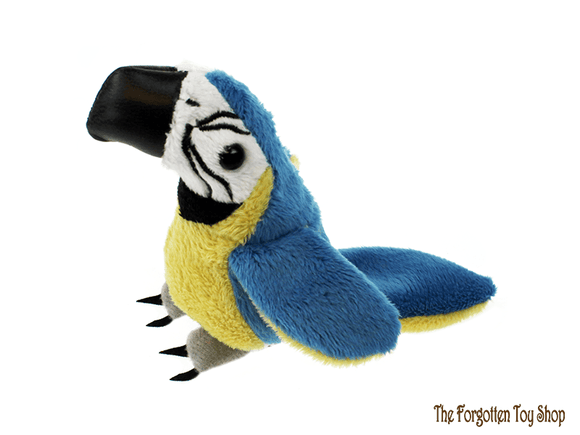 Blue & Gold Macaw Finger Puppet The Puppet Company - The Forgotten Toy Shop Limited