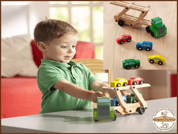 Wooden Car Transporter Melissa & Doug - The Forgotten Toy Shop Limited