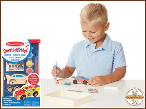 Created by Me! Race Car Wooden Craft Kit Melissa & Doug - The Forgotten Toy Shop Limited