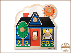 First Shapes Large Peg Puzzle Melissa & Doug - The Forgotten Toy Shop Limited