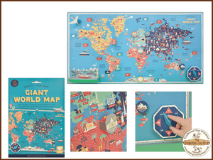 Create you own Giant World Map