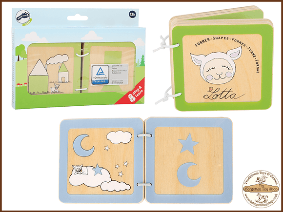 Lotta Wooden Baby Book (Shapes)