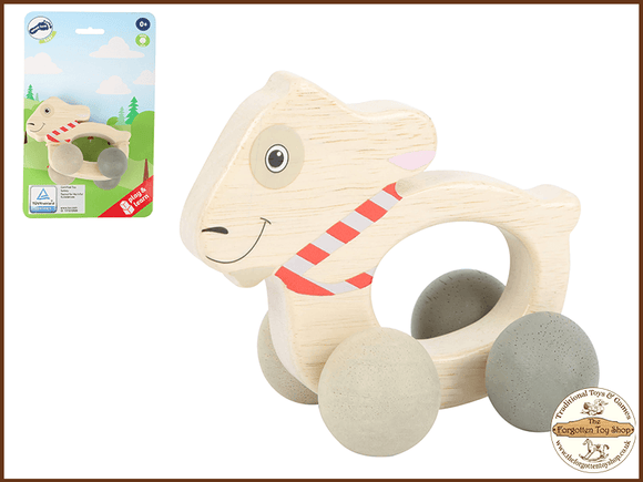 Ludwig Wooden Grip Toy on Rollers