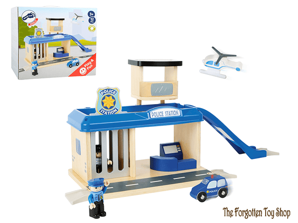 Police Station with Accessories Legler - The Forgotten Toy Shop Limited