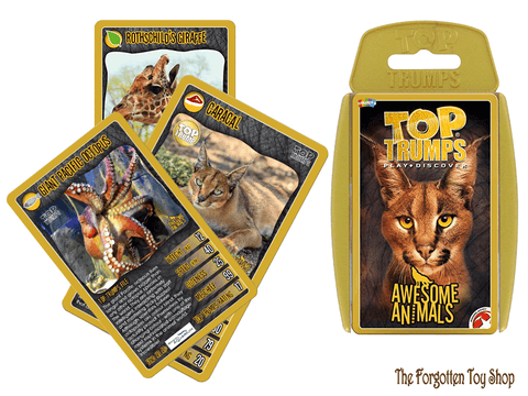 Top Trumps - Awesome Animals Muddleit - The Forgotten Toy Shop Limited