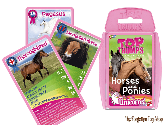 Top Trumps - Horses, Ponies & Unicorns Muddleit - The Forgotten Toy Shop Limited