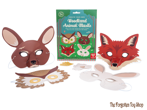 Create your own Woodland Animal Masks Clockwork Soldier - The Forgotten Toy Shop Limited