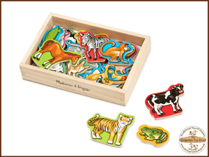 Wooden Animal Magnets Melissa & Doug - The Forgotten Toy Shop Limited