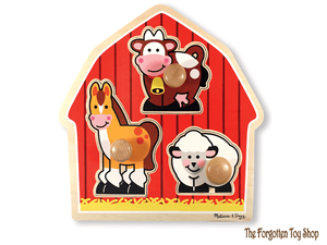 Barnyard Animals Large Peg Puzzle Melissa & Doug - The Forgotten Toy Shop Limited