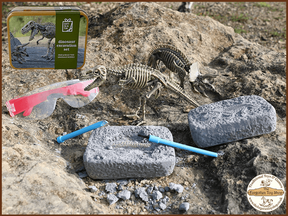 Dinosaur Excavation Kit in a Tin