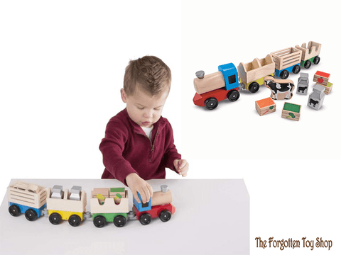 Wooden Farm Train Melissa & Doug - The Forgotten Toy Shop Limited