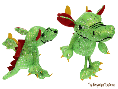 Dragon (Green) Finger Puppet The Puppet Company - The Forgotten Toy Shop Limited