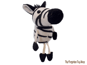 Zebra Finger Puppet The Puppet Company - The Forgotten Toy Shop Limited