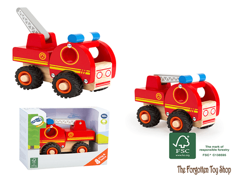 Wooden Fire Engine Legler - The Forgotten Toy Shop Limited