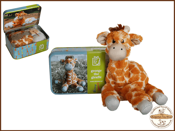 George the Giraffe Craft Kit in a Tin