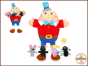 Nursery Rhymes Hand & Finger Puppet Set
