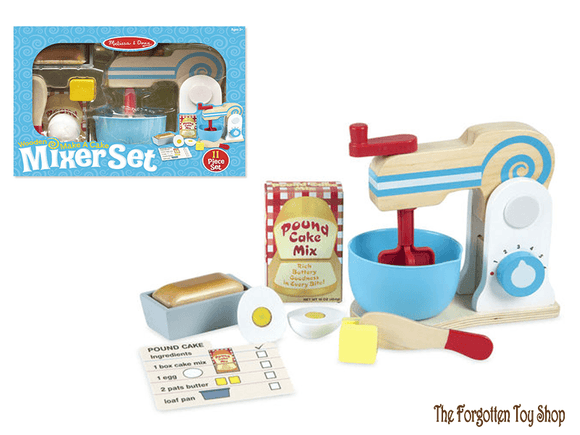 Wooden Make-a-Cake Mixer Set Melissa & Doug - The Forgotten Toy Shop Limited