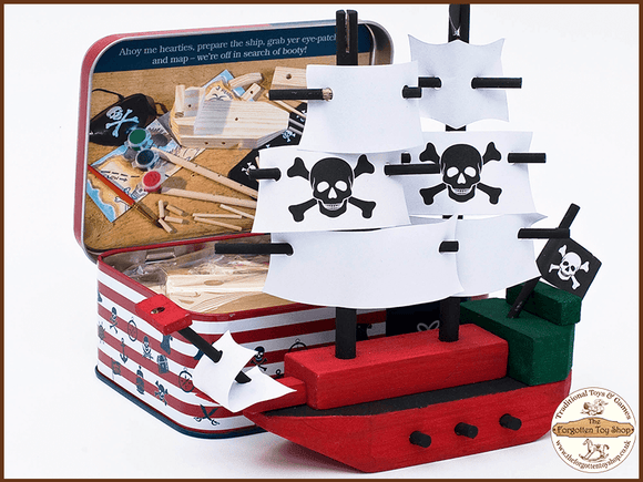 Pirate Ship craft kit in a tin Apples to Pears - The Forgotten Toy Shop Limited