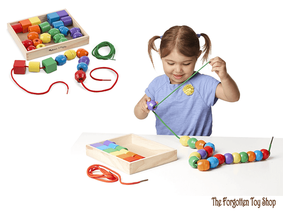 Primary Lacing Beads Melissa & Doug - The Forgotten Toy Shop Limited