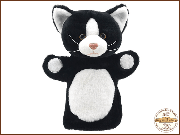 Cat (Black and White) Puppet Buddies Hand Puppet