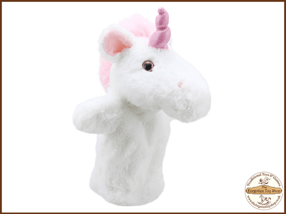 Unicorn Puppet Buddies Hand Puppet The Puppet Company - The Forgotten Toy Shop Limited
