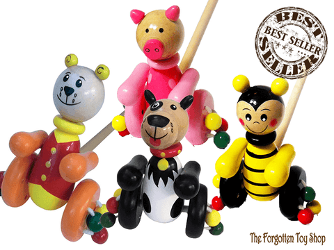 Traditional Wooden Push Along Animal Toy House of Marbles - The Forgotten Toy Shop Limited