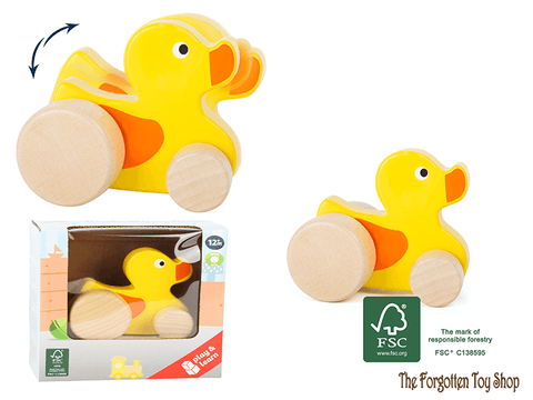 Push-along Duck Legler - The Forgotten Toy Shop Limited