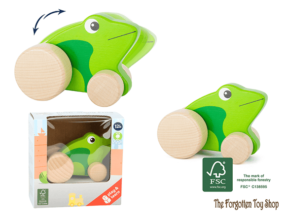 Push-along Frog Legler - The Forgotten Toy Shop Limited