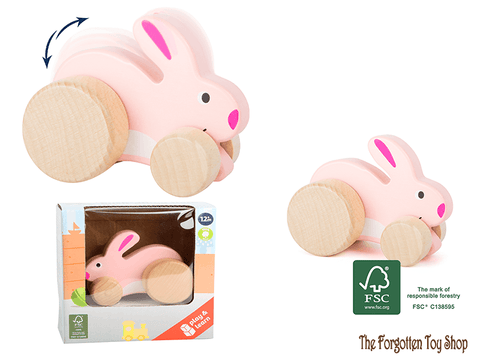 Push-along Rabbit Legler - The Forgotten Toy Shop Limited