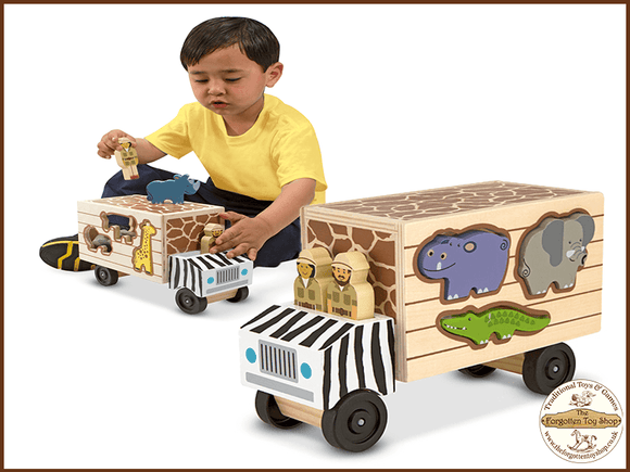 Safari Animal Rescue Truck Melissa & Doug - The Forgotten Toy Shop Limited