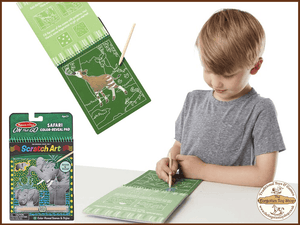 Scratch Art Reveal Pad - Safari Melissa & Doug - The Forgotten Toy Shop Limited